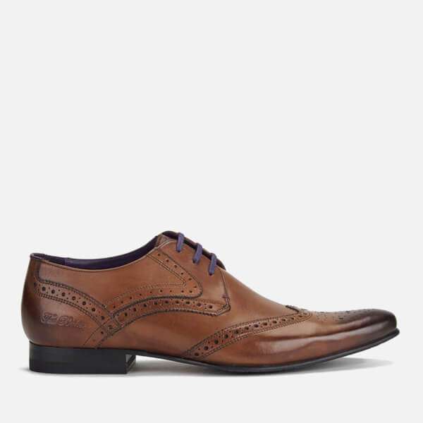 51d020cd08cf Ted Baker Men s Hann 2 Leather Brogues - Tan  Image 1