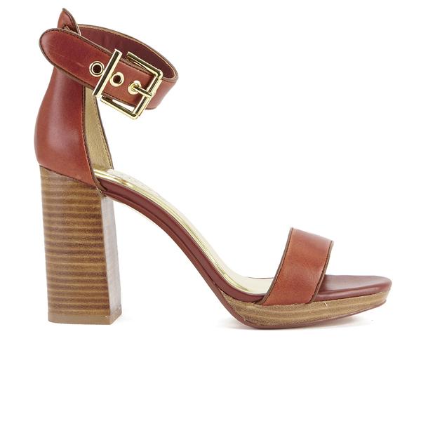 ae7fa21195cf Ted Baker Women s Lorno Leather Block Heeled Sandals - Tan  Image 1