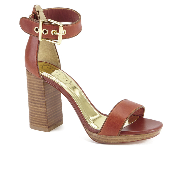 f7ff8da31b54 Ted Baker Women s Lorno Leather Block Heeled Sandals - Tan  Image 2