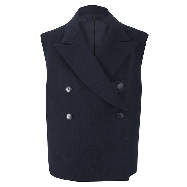 Helmut Lang Women's Brushed Doubleface Double Breast Waistcoat - Navy