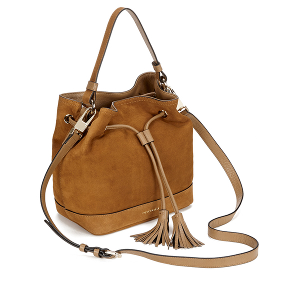 coccinelle women 39 s jessie suede bucket bag tan womens accessories. Black Bedroom Furniture Sets. Home Design Ideas