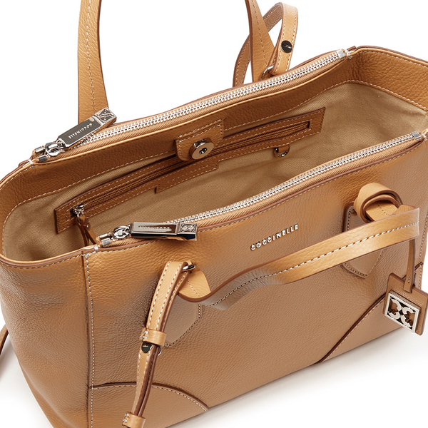 d4a71be008 Coccinelle Women's Brad Leather Tote Bag - Light Tan: Image 4