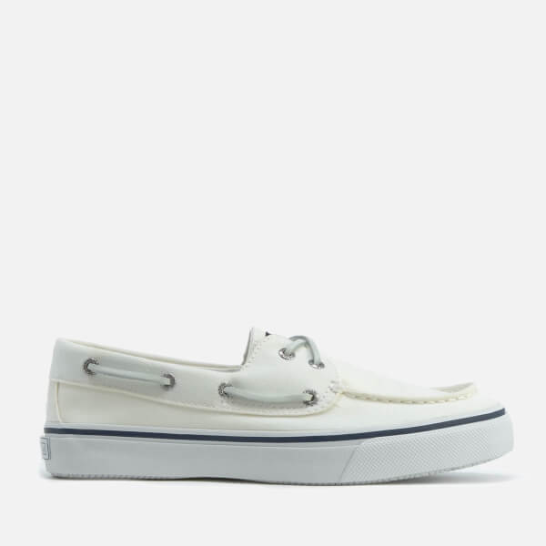 sperry s bahama 2 eye canvas boat shoes white free