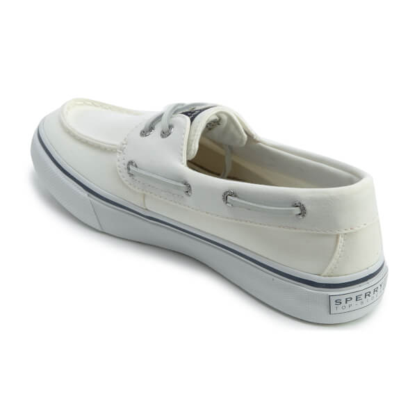 sperry s bahama 2 eye canvas boat shoes white mens