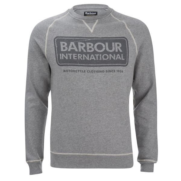 Barbour International Men's Logo Sweatshirt - Grey Marl