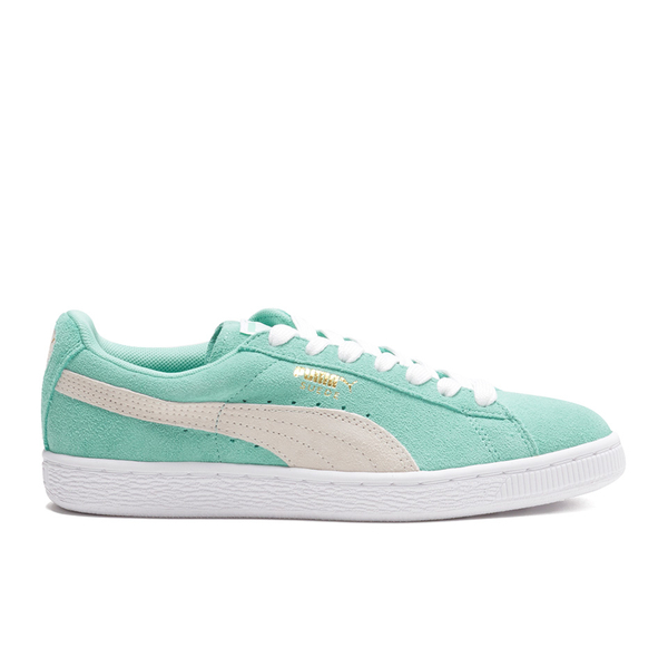 Puma Women's Suede Classic Low Top Trainers - Green/White