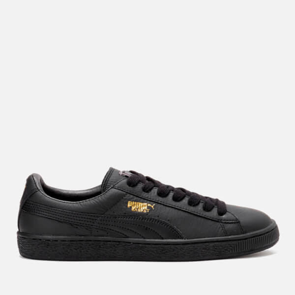 e7b9aabfb221 Puma Men s Basket Classic LFS Trainers - Black Team Gold  Image 1