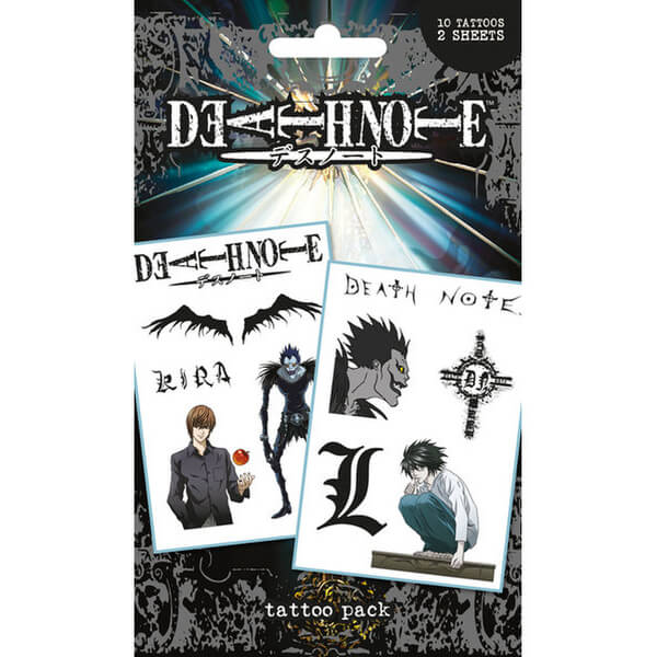 Death Note Characters & Icons - Tattoo Pack