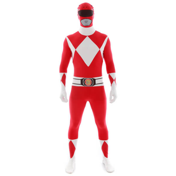 Morphsuit Adulte Power Rangers Rouge