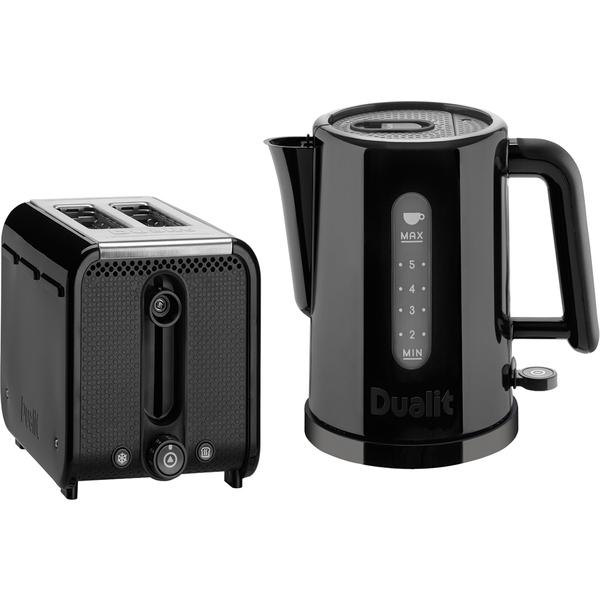 Dualit Studio 1.5L Kettle and 2 Slice Toaster Bundle - Black