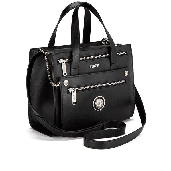 832a96ddd043 Versus Versace Women s Front Pocket Removable Clutch Tote Bag - Black   Image 2