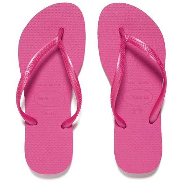 Havaianas Women s Slim Flip Flops - Shocking Pink  Image 1 d33be5b3ba4f