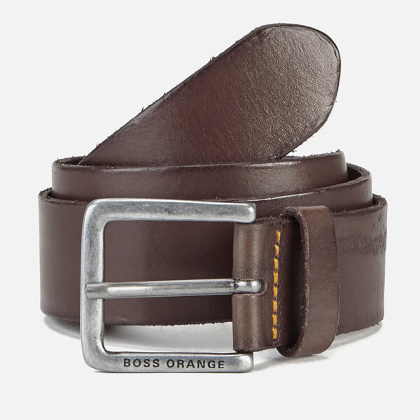BOSS Orange Men's Jeek Leather Belt - Brown