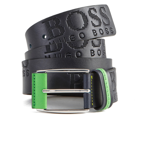 BOSS Green Men's Millow Branded Belt - Navy