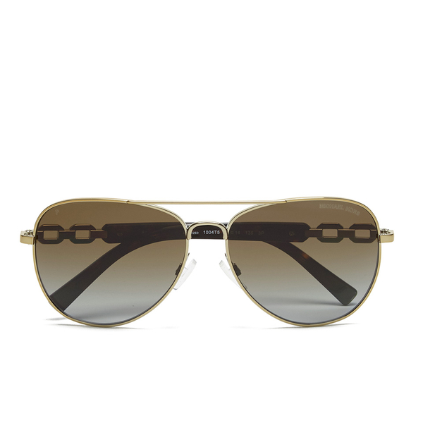 MICHAEL MICHAEL KORS Women's Fiji Glam Chain Link Sunglasses - Gold