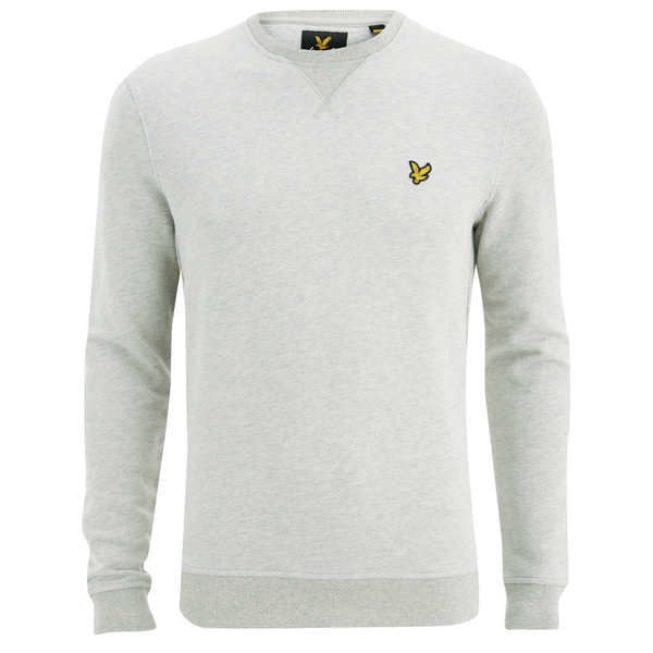 Lyle   Scott Vintage Men s Crew Neck Twill Look Sweatshirt - Light Grey  Marl  Image 4c8c7de90a486