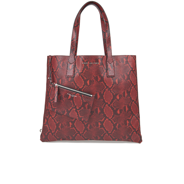 Marc By Marc Jacobs Womens Snake Wingman Shopping Tote Bag - Red