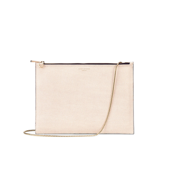 Aspinal of London Women's Soho Double Sided Pouch Clutch Bag - Monochrome