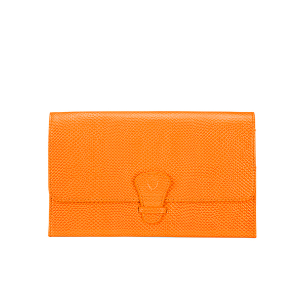 Aspinal of London Women's Classic Travel Wallet - Orange