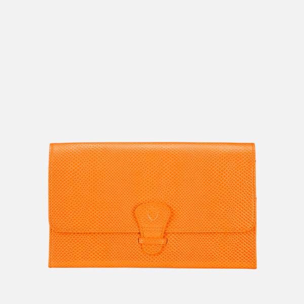 Aspinal of London Women's Classic Travel Wallet - Orange