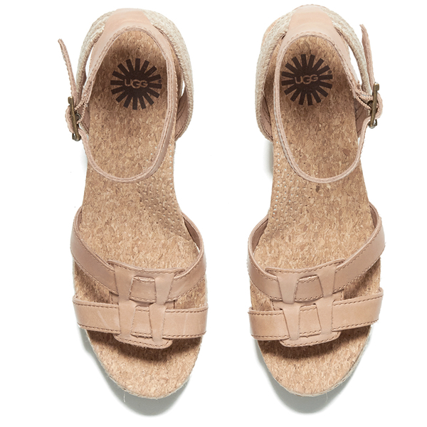 UGG Women's Maysie Wedged Sandals - Tawny: Image 2