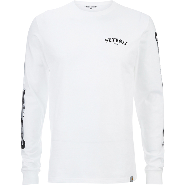 Carhartt x moodymann men 39 s long sleeve mmc detroit soul for Carhartt long sleeve t shirts white