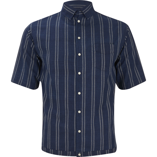 Levi's Vintage Men's Homerun Short Sleeve Flapper Shirt - Indigo Dobby Stripe