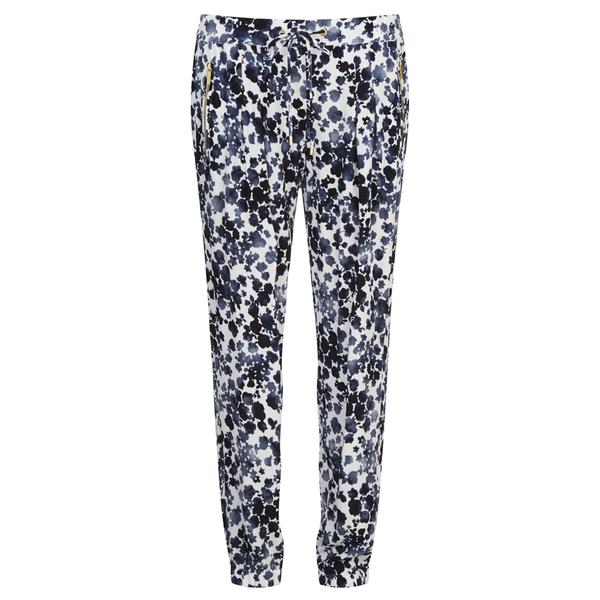 MICHAEL MICHAEL KORS Women's Zip Pocket Printed Trouser - New Navy