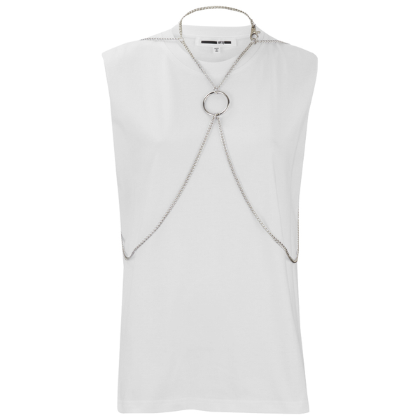 McQ Alexander McQueen Women's Chain Top - Optic White