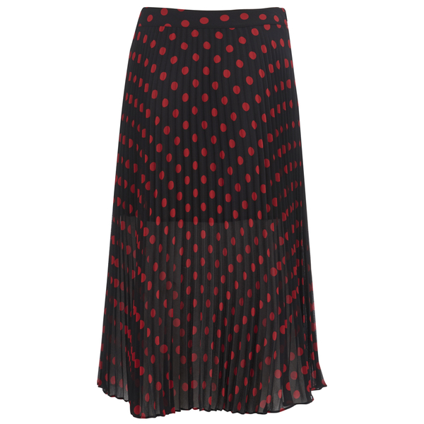McQ Alexander McQueen Women's Pleated Skirt - Red/Black
