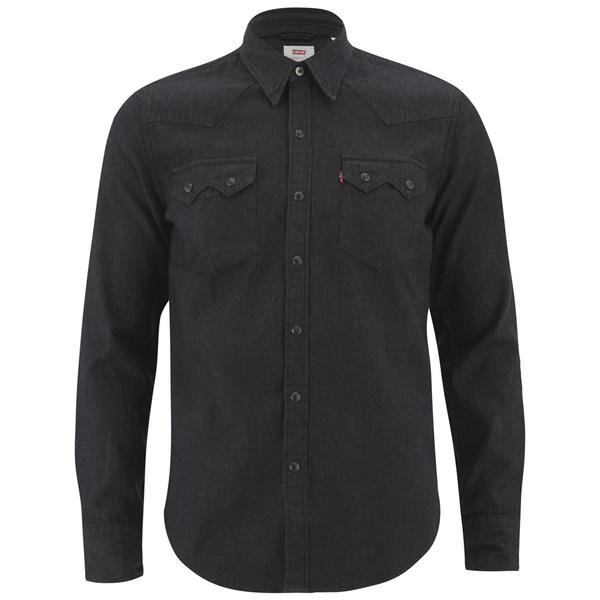 Levi 39 s men 39 s sawtooth shirt black mens clothing for Mens black levi shirt