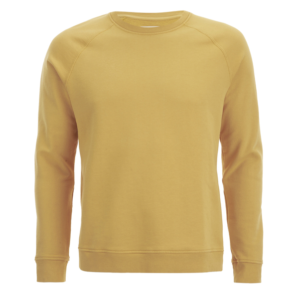 Folk Men's Plain Crew Neck Sweatshirt - Washed Out Amber