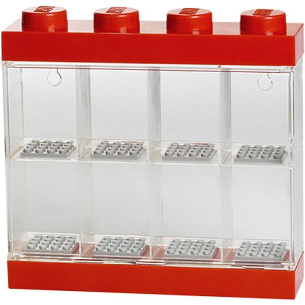 Vitrine d'exposition de figurines LEGO® 8 -Rouge