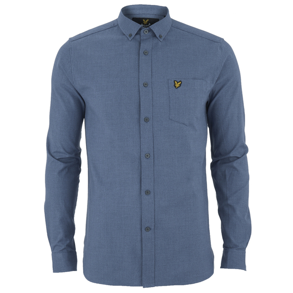 Lyle & Scott Men's Mouline Oxford Shirt - Navy