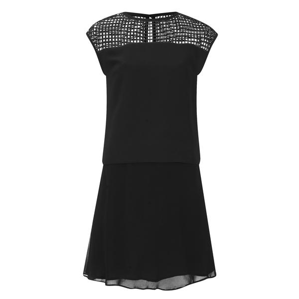 Karl Lagerfeld Women's Mesh Panelled Dress - Black