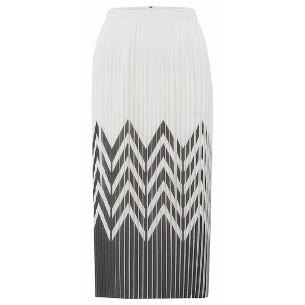 Designers Remix Women's Tilt Graphic Pleated Skirt - Black/White