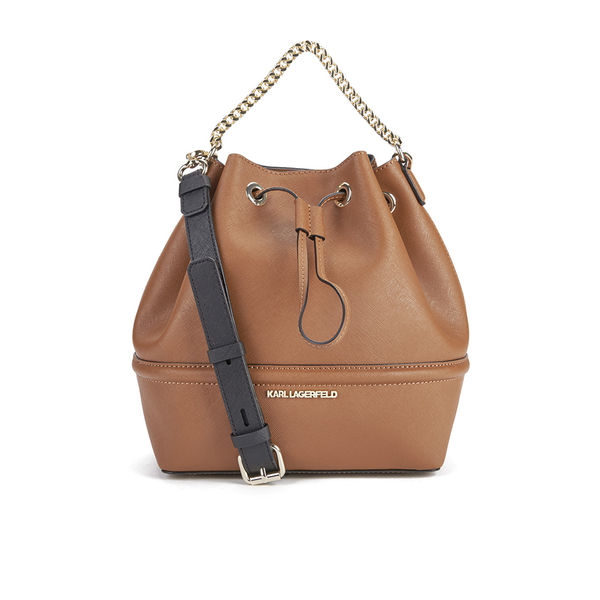 Karl Lagerfeld Women S K Klassik Drawstring Bag Tan Image 1