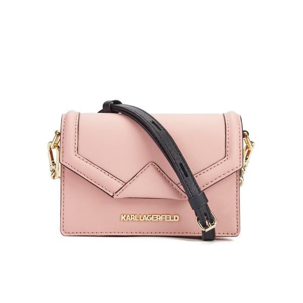 Karl Lagerfeld Womens Kklassik Super Mini Crossbody Bag Misty