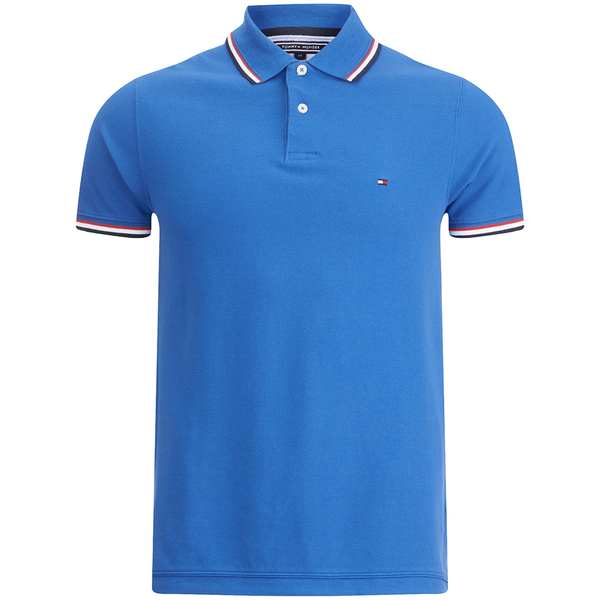 6686fa1a8af Tommy Hilfiger Men s Tommy Tipped Polo Shirt - Victoria Blue  Image 1