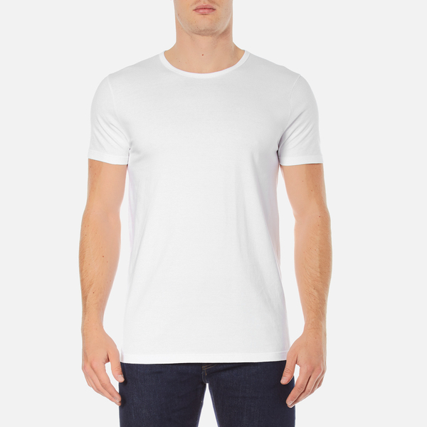 Edwin Men's Double Pack Short Sleeve T-Shirt - White