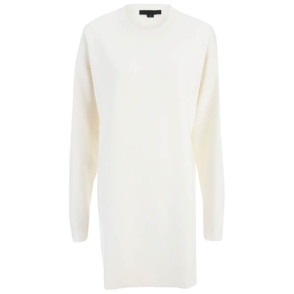 Alexander Wang Women's Crew Neck Seamless Pocket Dress - Eggshell