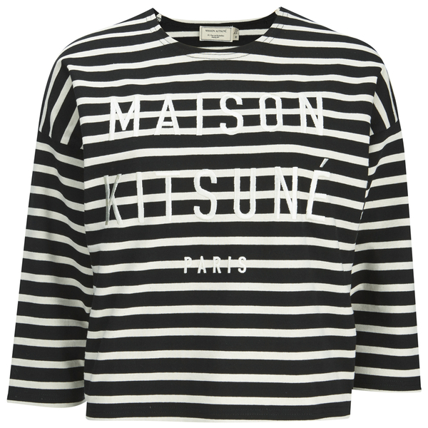 Maison Kitsuné Women's Marin Cropped Sweatshirt - Black