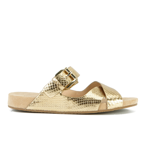 MICHAEL MICHAEL KORS Women's Sawyer Slide Sandals - Pale Gold