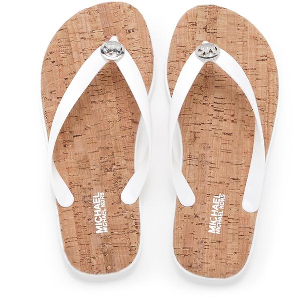 MICHAEL MICHAEL KORS Women's Jet Set MK Jelly Sandals - Optic White