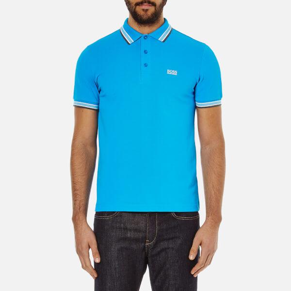 BOSS Green Men's Paddy Polo Shirt - Bright Blue