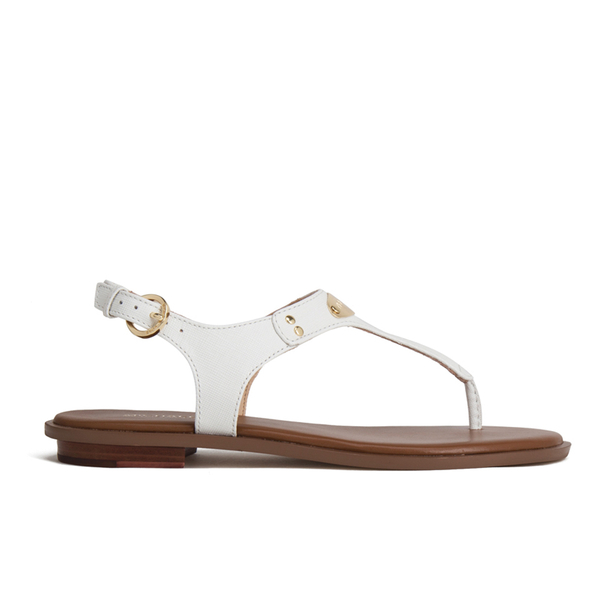 9fb4e8dc06b MICHAEL MICHAEL KORS Women s MK Plate Thong Sandals - White  Image 1