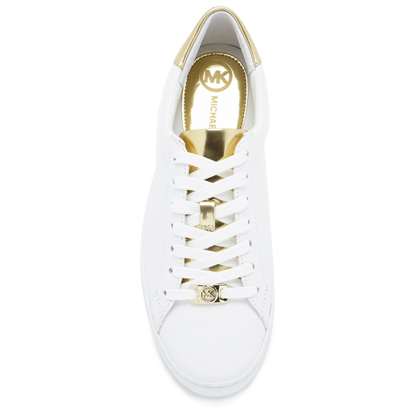 fe5b7e7781a5 MICHAEL MICHAEL KORS Women s Irving Lace Up Trainers - White  Image 3
