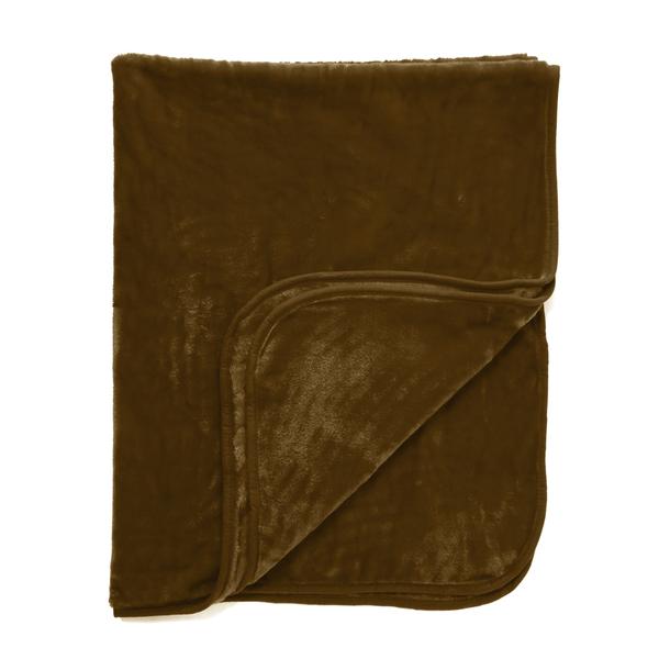 Dreamscene Luxurious Faux Fur Throw - Chocolate
