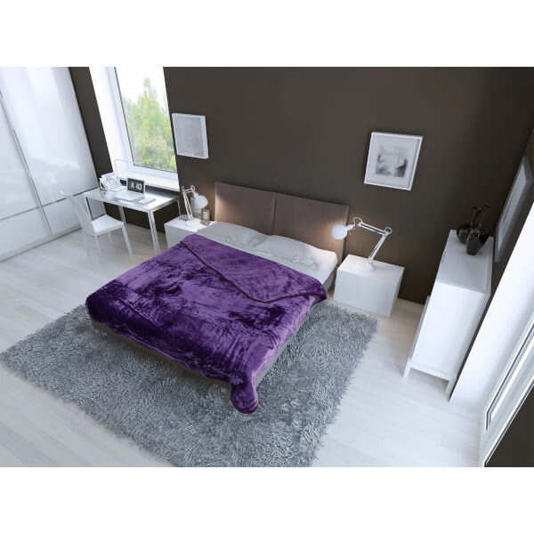 Plaid Luxueux en Fausse Fourrure Dreamscene - Violet