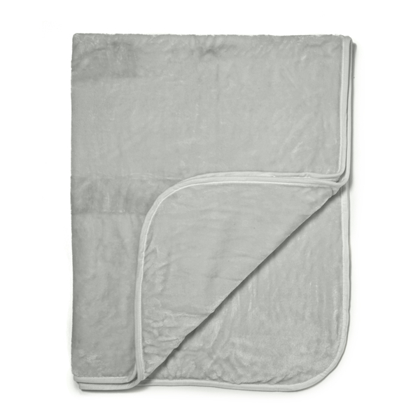 Dreamscene Luxurious Faux Fur Throw - Silver